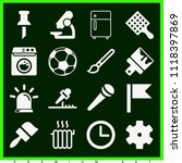 set of 16 tool filled icons... | Shutterstock .eps vector #1118397869