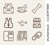 Set Of 9 Other Outline Icons...