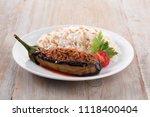 traditional turkish food...   Shutterstock . vector #1118400404