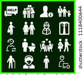 set of 16 man filled icons such ... | Shutterstock .eps vector #1118400644