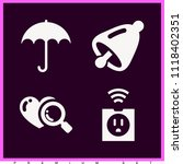 set of 4 tool filled icons such ... | Shutterstock .eps vector #1118402351