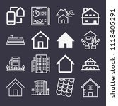 set of 16 home outline icons... | Shutterstock .eps vector #1118405291
