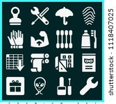set of 16 other filled icons... | Shutterstock .eps vector #1118407025