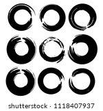 grunge vector circles. brush...   Shutterstock .eps vector #1118407937