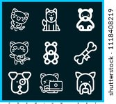 set of 9 animals outline icons... | Shutterstock .eps vector #1118408219