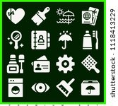 set of 16 other filled icons... | Shutterstock .eps vector #1118413229