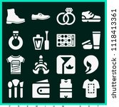 set of 16 fashion filled icons... | Shutterstock .eps vector #1118413361