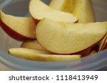 Fresh Apples. Close Up. Sliced...