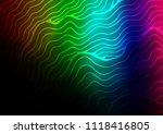 dark multicolor  rainbow vector ... | Shutterstock .eps vector #1118416805