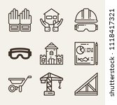 set of 9 construction outline... | Shutterstock .eps vector #1118417321