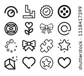 set of 16 shapes outline icons... | Shutterstock .eps vector #1118417399