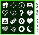 set of 16 shapes filled icons... | Shutterstock .eps vector #1118417435
