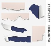 torn edges paper hole lacerated ...   Shutterstock .eps vector #1118418935