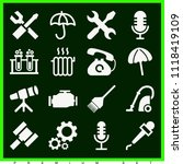 set of 16 tools filled icons... | Shutterstock .eps vector #1118419109