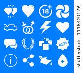 set of 16 shapes filled icons... | Shutterstock .eps vector #1118420129