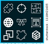 set of 9 shapes outline icons... | Shutterstock .eps vector #1118421605