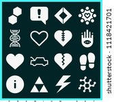 set of 16 shapes filled icons... | Shutterstock .eps vector #1118421701