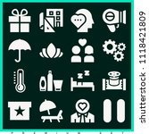 set of 16 other filled icons... | Shutterstock .eps vector #1118421809