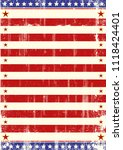 a grunge american flag for you | Shutterstock .eps vector #1118424401