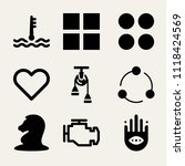 set of 9 shapes filled icons... | Shutterstock .eps vector #1118424569