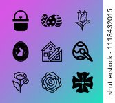 vector icon set about flowers... | Shutterstock .eps vector #1118432015