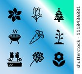 vector icon set about gardening ... | Shutterstock .eps vector #1118436881