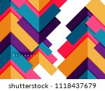 multicolored abstract geometric ... | Shutterstock .eps vector #1118437679