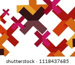 multicolored abstract geometric ... | Shutterstock .eps vector #1118437685