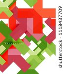 multicolored abstract geometric ... | Shutterstock .eps vector #1118437709
