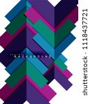 multicolored abstract geometric ... | Shutterstock .eps vector #1118437721