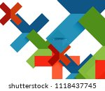 multicolored abstract geometric ... | Shutterstock .eps vector #1118437745