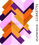 multicolored abstract geometric ... | Shutterstock .eps vector #1118437751