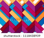 multicolored abstract geometric ... | Shutterstock .eps vector #1118438939