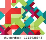 multicolored abstract geometric ... | Shutterstock .eps vector #1118438945