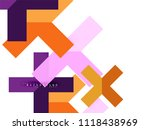multicolored abstract geometric ... | Shutterstock .eps vector #1118438969