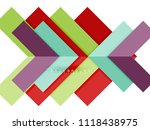 multicolored abstract geometric ... | Shutterstock .eps vector #1118438975
