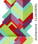 multicolored abstract geometric ... | Shutterstock .eps vector #1118438981