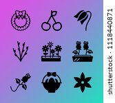 vector icon set about flowers... | Shutterstock .eps vector #1118440871