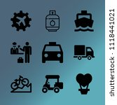 vector icon set about transport ... | Shutterstock .eps vector #1118441021
