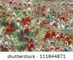 Hand Painted Marbled Paper Or...