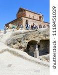 uplistsikhe   may 5  tourists... | Shutterstock . vector #1118451029