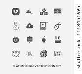 modern  simple vector icon set... | Shutterstock .eps vector #1118451695