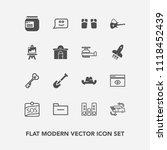 modern  simple vector icon set... | Shutterstock .eps vector #1118452439