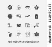 modern  simple vector icon set... | Shutterstock .eps vector #1118452655