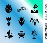 vector icon set about gardening ... | Shutterstock .eps vector #1118453921
