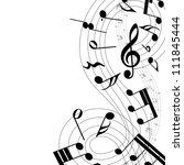 musical design elements from... | Shutterstock .eps vector #111845444