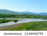 view on aragvi and kura ... | Shutterstock . vector #1118456795