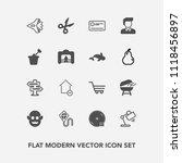 modern  simple vector icon set...   Shutterstock .eps vector #1118456897