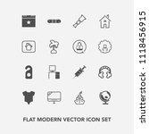 modern  simple vector icon set... | Shutterstock .eps vector #1118456915