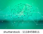 human brain of triangles  lines ... | Shutterstock .eps vector #1118458811